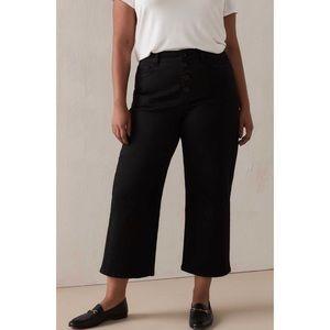 Women's Black Wide Leg Jean 12 NWT